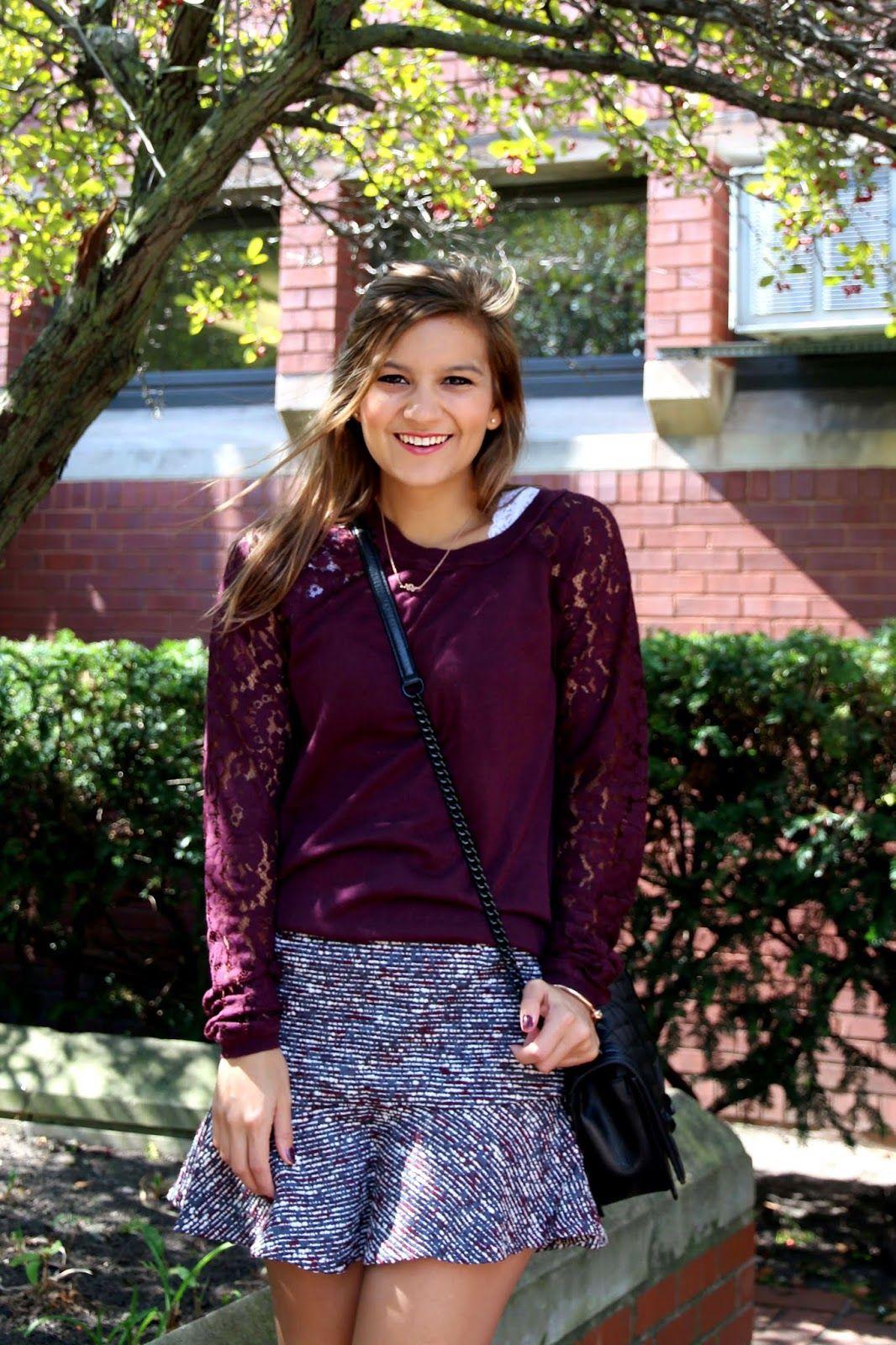 Love 21 sweatshirt and skirt