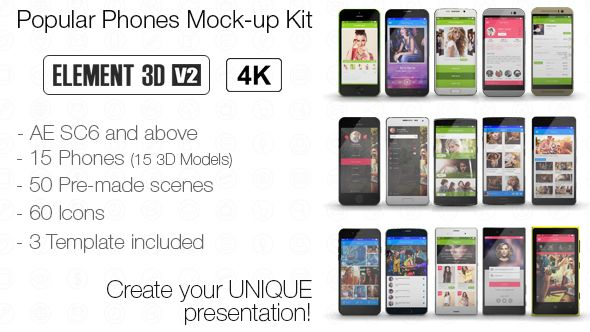 popular phones mock up kit best after effects templates
