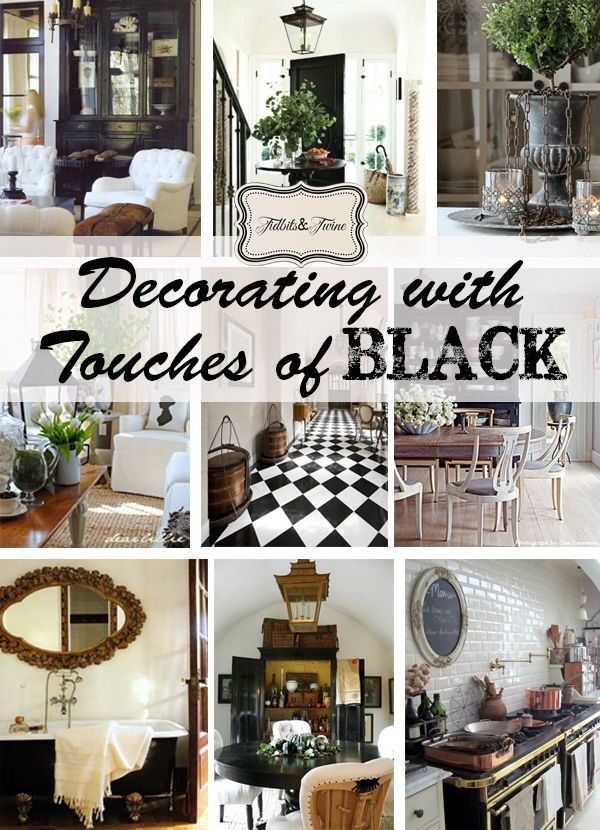 How to decorate with touches of black for an elegant and timeless look from {TidbitsandTwine}