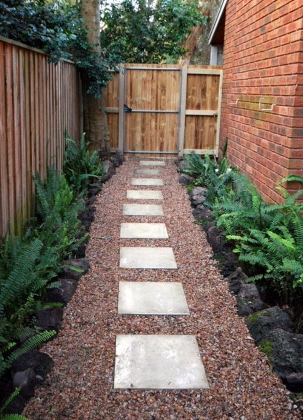 Like this but with bluestone in more irregular pieces and ... on Side Yard Walkway Ideas id=77819