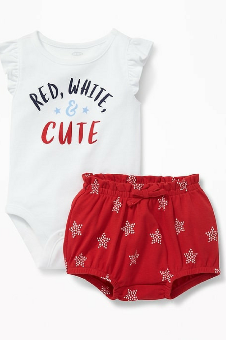 Carters Baby Girls 4th of July Chambray Star Print Dress