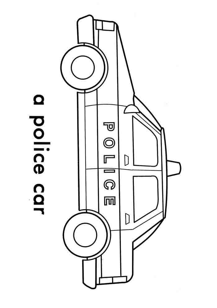 A Police Car Coloring Pages Planes Trains Automobiles