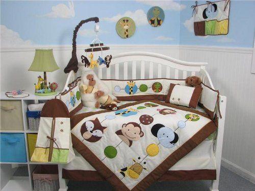 Jungle Friends SoHo Baby Crib Bedding 9 Piece Set