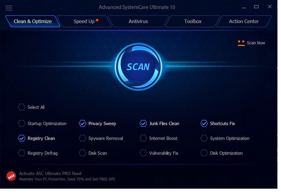 New Iobit Advanced Systemcare Ultimate 11 3 Pc 1 Yr Optimize Pc