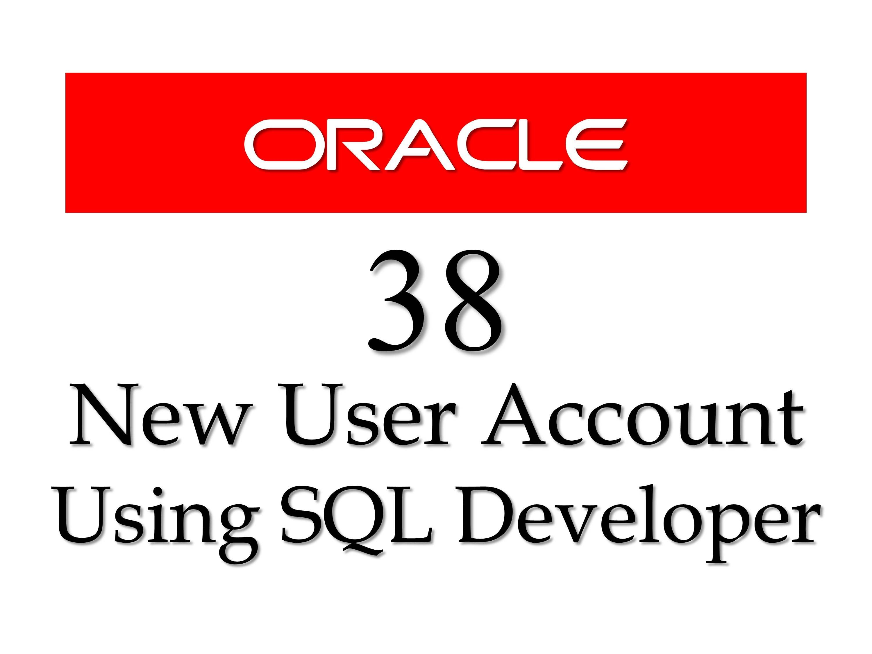 Sql tutorial 38 how to create new user account using how to create new user accounts using sql developer in oracle database in this tutorial you will learn how to create a new user account baditri Images