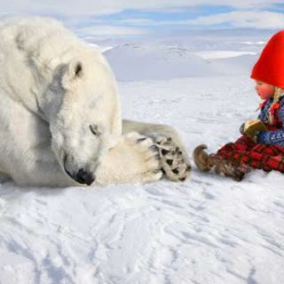 Girl & Polar bear