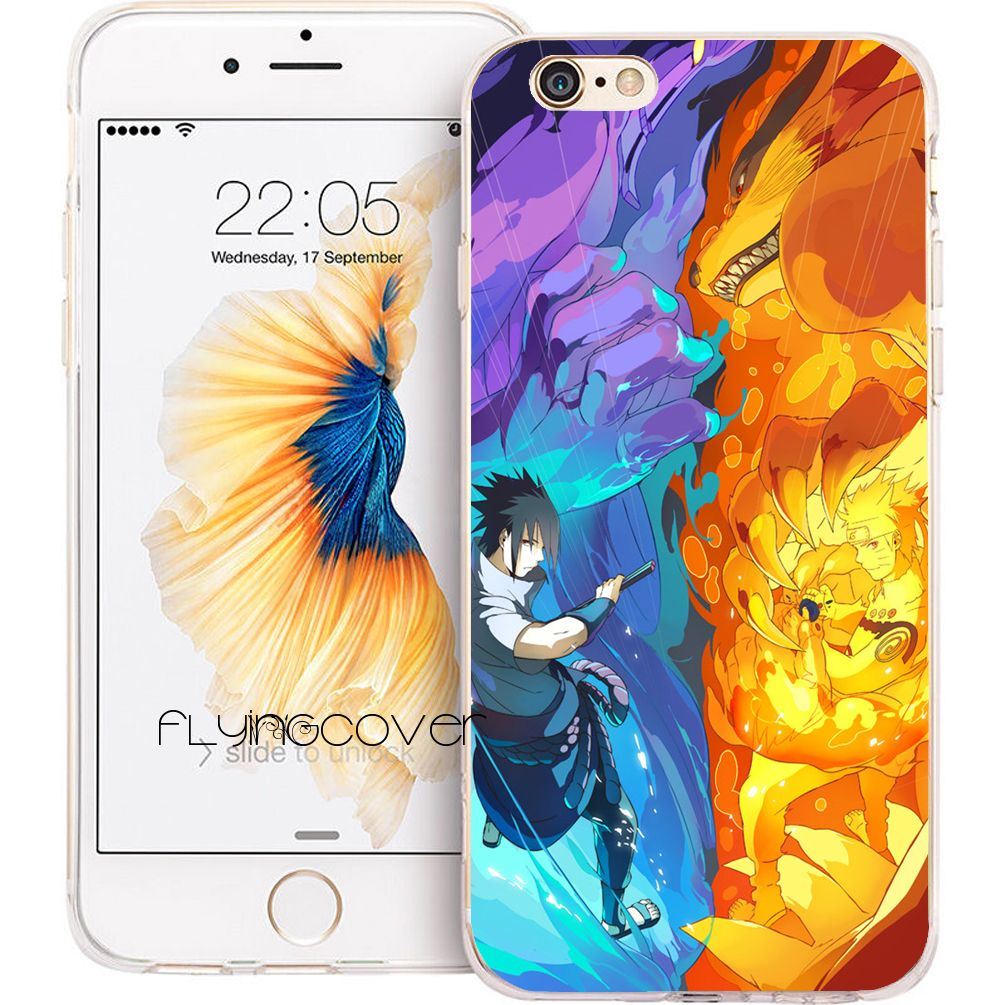 Sasuke Naruto Transparent Clear Soft TPU Phone Cases for iphone in