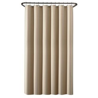 Maytex Waterproof Fabric Shower Curtain Or Liner Beige Shower