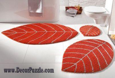 modern bathroom rug sets and bath mats 2015, orange bathroom rugs ...