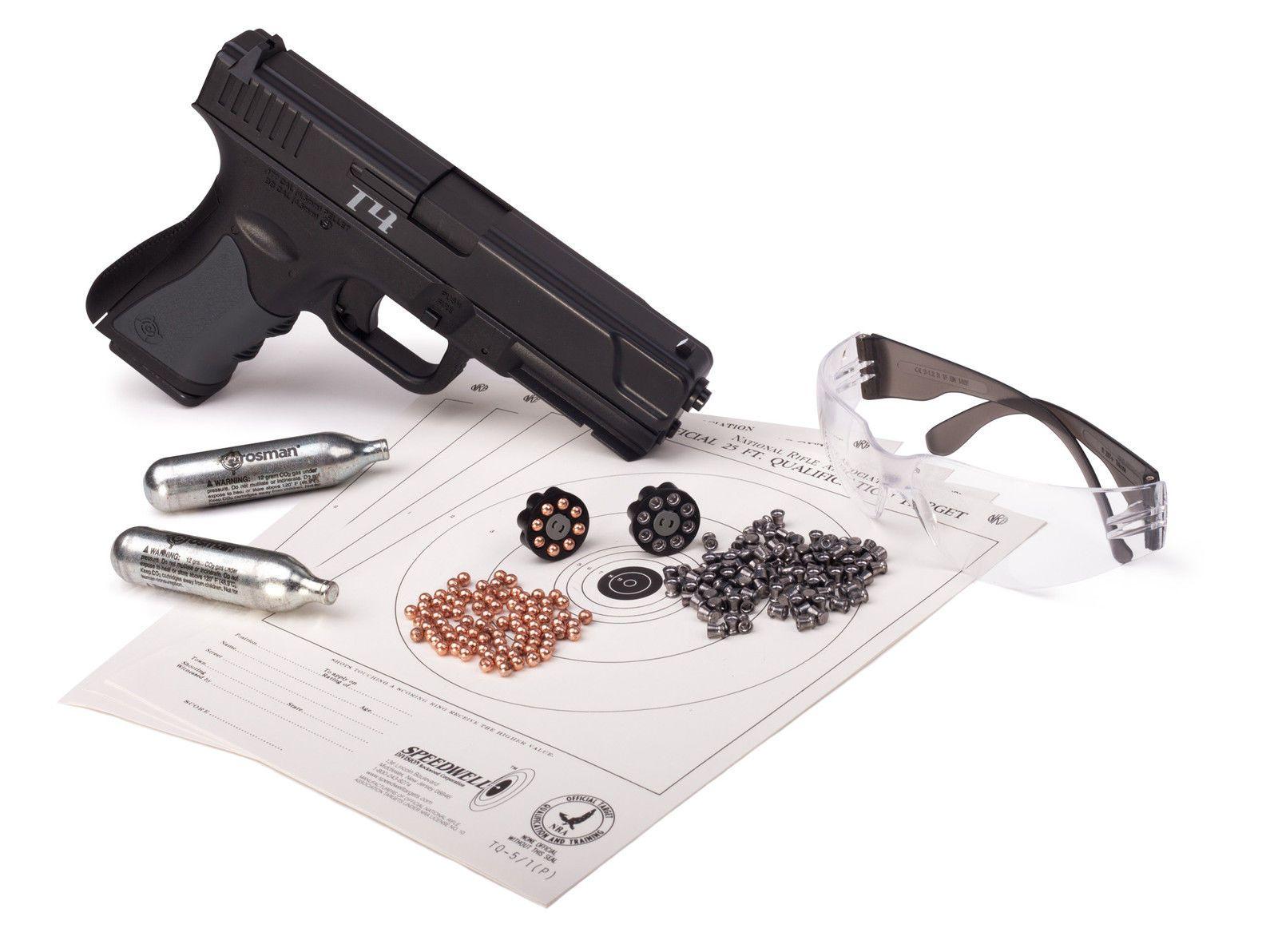 Crosman Glock design T4 Kit pkg, included Co2 and pellets