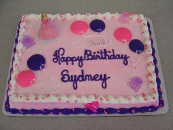 walmart birthday cakes Barbie Cake Decorations Ideas Themed Party