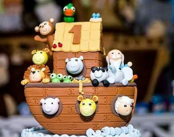 Topo de bolo Arca de Noé