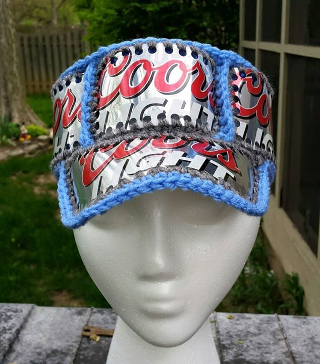e4477c522c7 Coors Light crocheted beer can hat