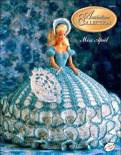 revista de patrones de vestidos crochet para muñeca barbie