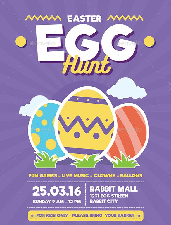 Easter Flyer Templates  Free Sample Example Format Download