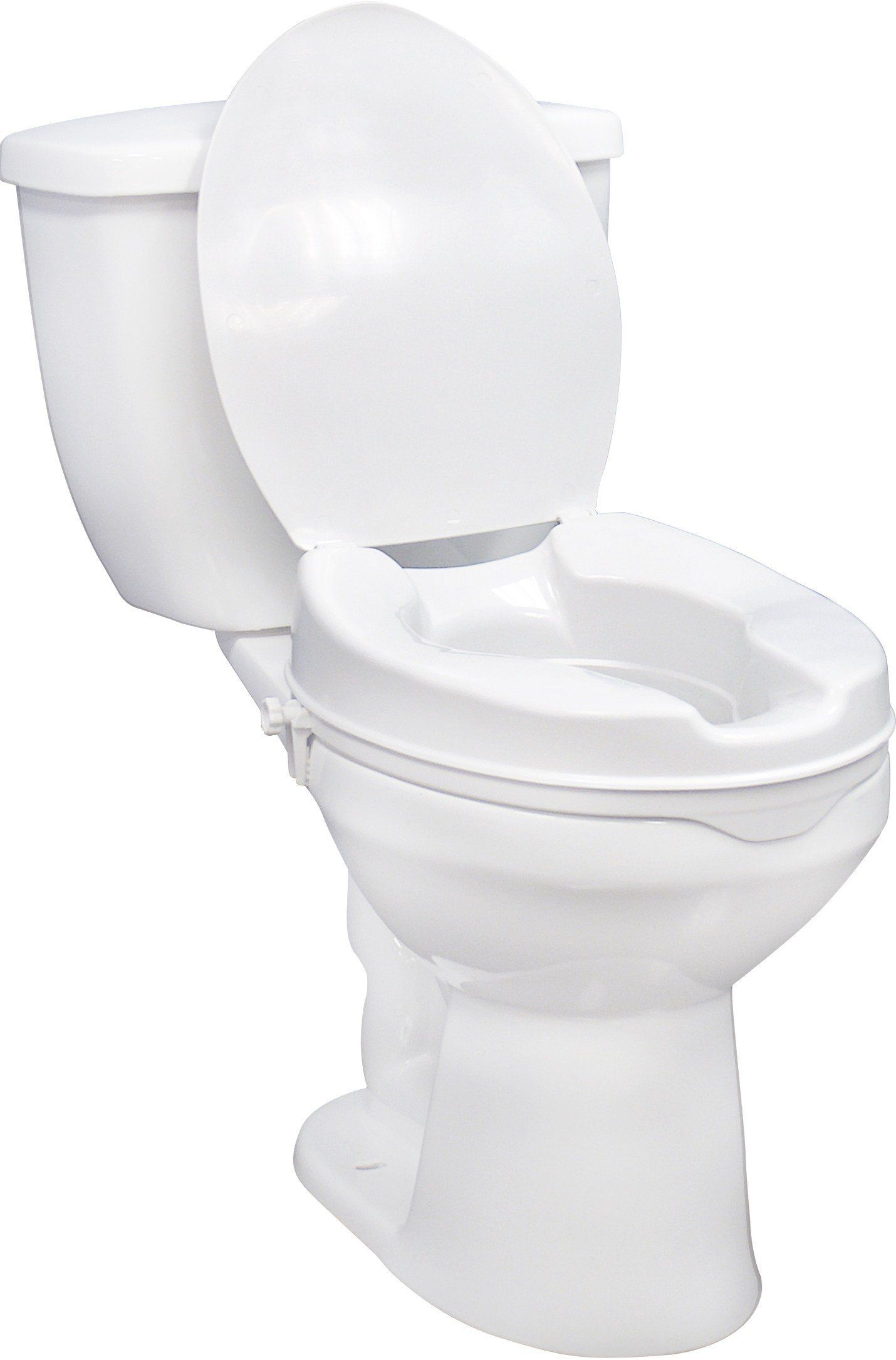 Drive Medical Raised Toilet Seat With Lock And Lid Toilet Seat
