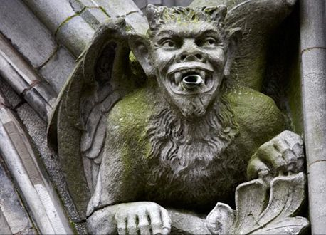 Great Architecture Of The World With Gargoyles And Just
