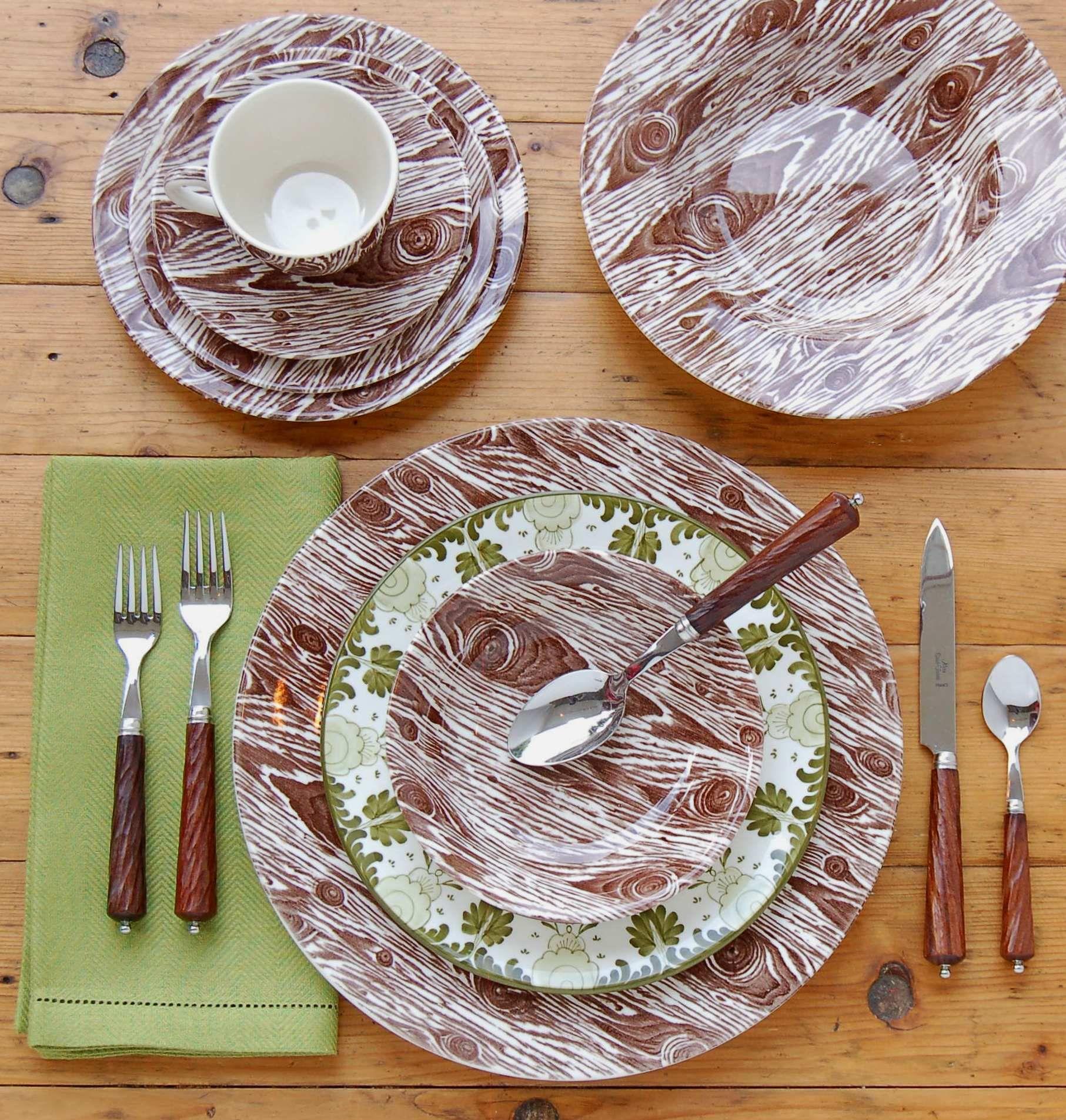 Ross Sveback Faux Bois Dinnerware. & Ross Sveback Faux Bois Dinnerware. | Table Settings | Pinterest ...