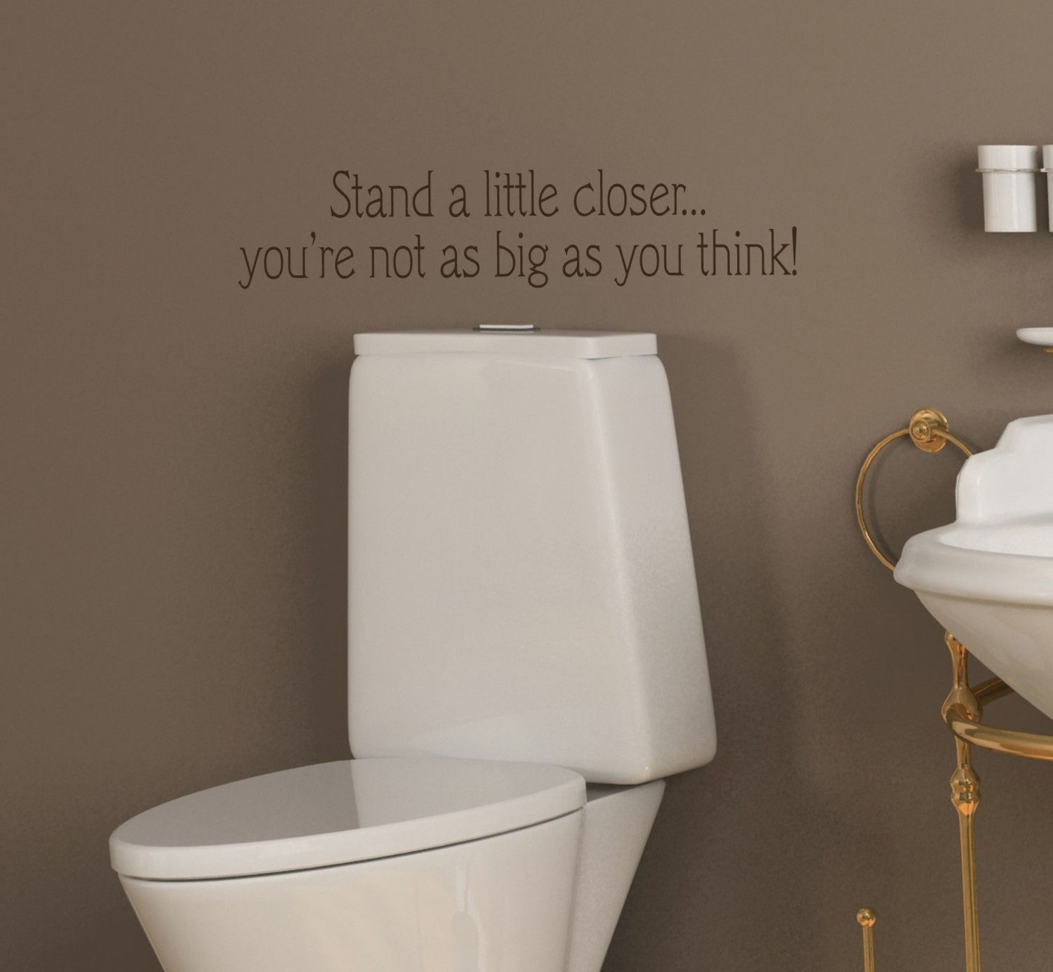 X Funny Bathroom Toilet Stand A Little Closer Vinyl Wall - Custom vinyl wall decals sayings for bathroom