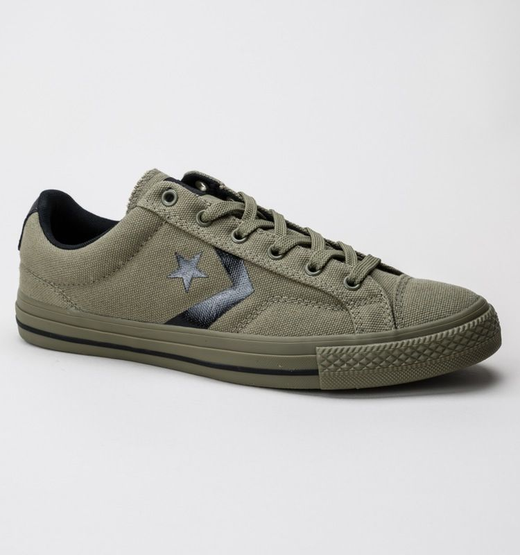 Shoes Outlet - Converse Star Player Suede Ox Chocolat Mens Trainers
