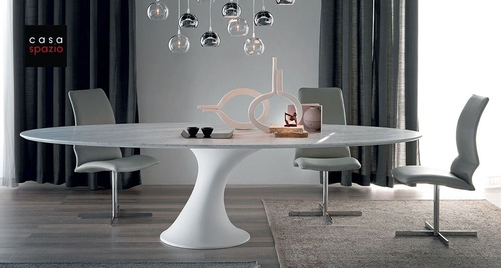 The Reef Dining Table Is A Modern Pedestal Table From Itali