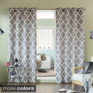 Good Aurora Home Velvet Moroccan Print Grommet Top 84 Inch Curtain Panel Pair By  Aurora Home