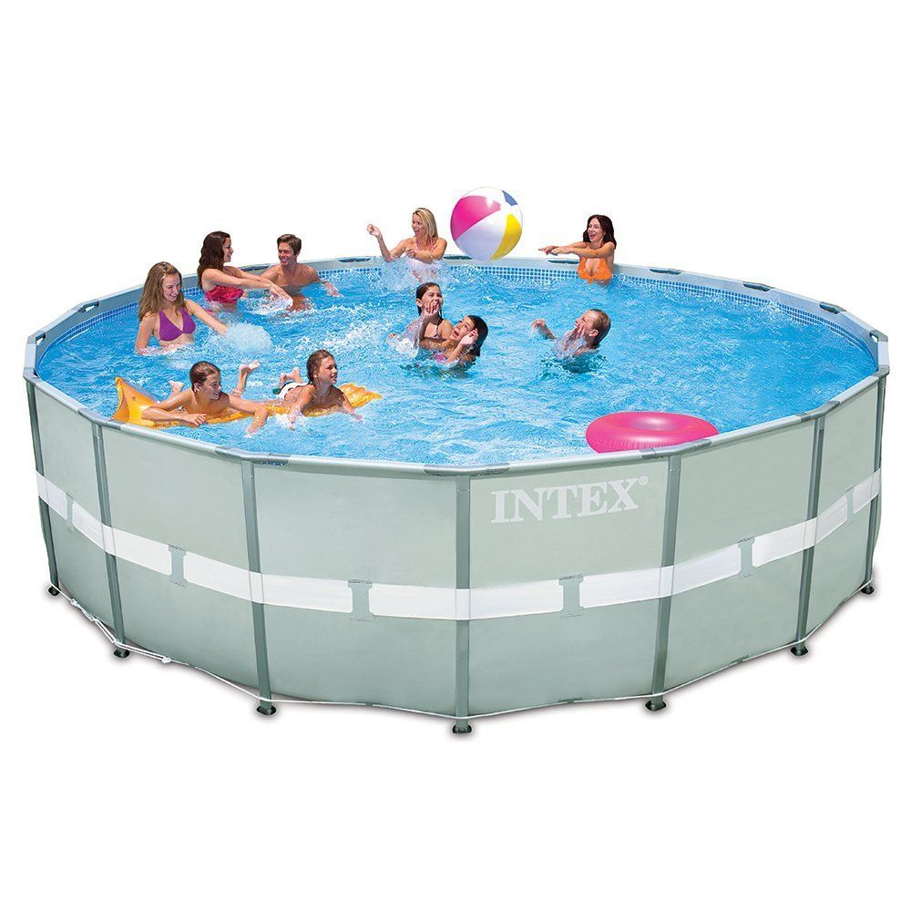 Amazon.com : Intex 18ft X 52in Ultra Frame Pool Set with Sand Filter ...