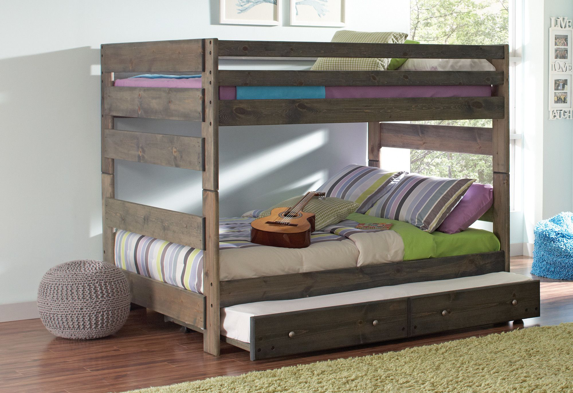 Queen loft bed with stairs  Malina Youth Full over Full Standard Bed  Products  Pinterest