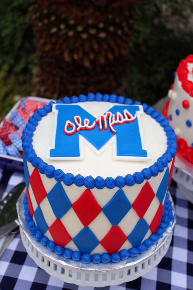 Phenomenal Ole Miss Cake Miss Cake Cake College Graduation Cakes Funny Birthday Cards Online Fluifree Goldxyz