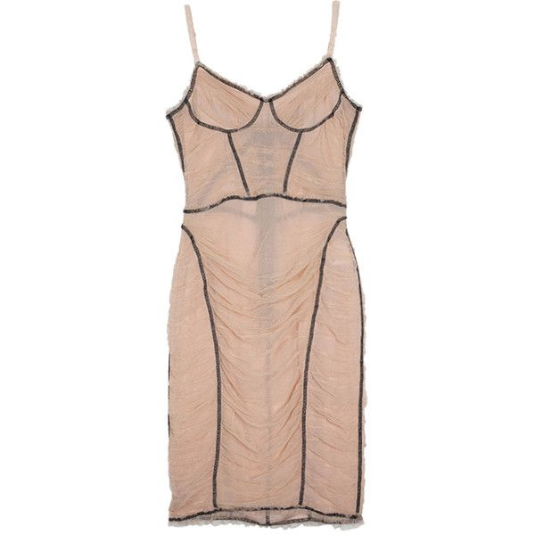 D&G Tulle Cami Dress M ❤ liked on Polyvore featuring dresses, cami dress, tulle dress, pink camisole, camisole dress and pink tulle dress