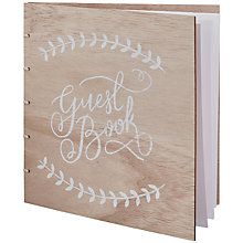 Ginger Ray Wooden Look Guest Book Online At Johnlewis Wedding Planner