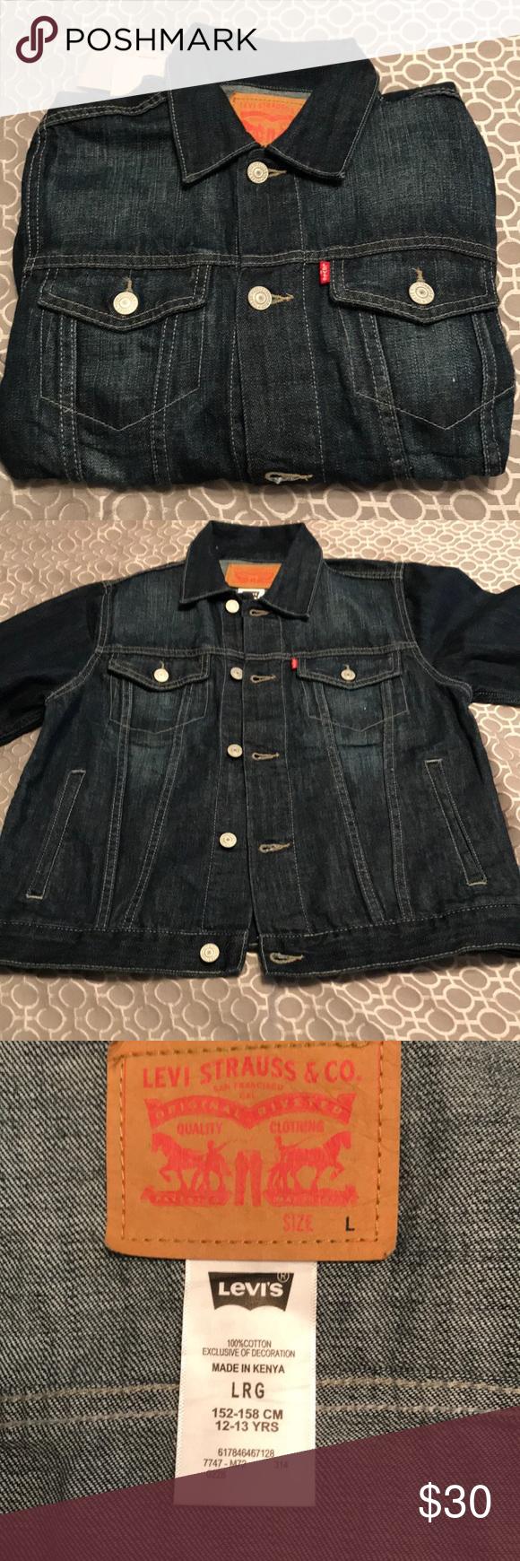 ed2c88bd4932 NWT Boys Levi s jean jacket. Size Large. NWT