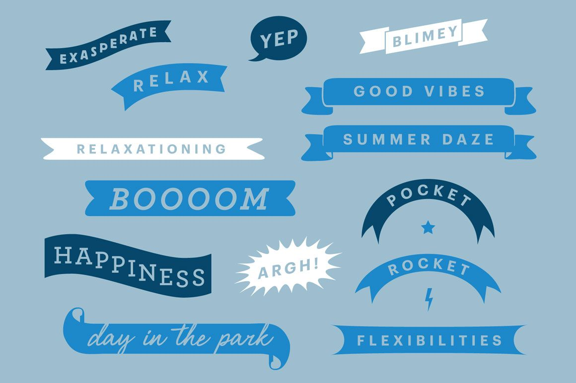 Vector Ribbon Pack By Dashwood On Creative Market Material