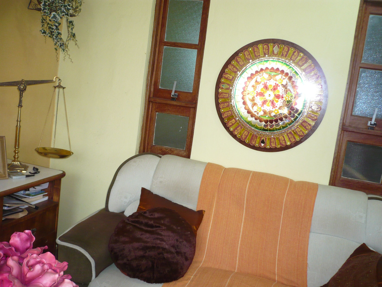 Mandala na Parede da Sala -por Marta Falcao