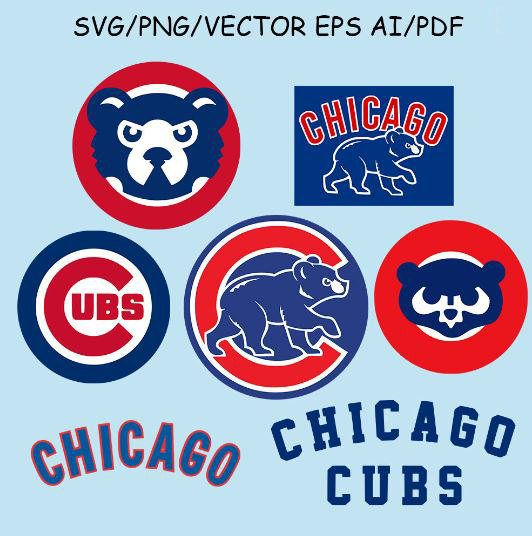 Chicago Cubs Logo Svg Chicago Cubs Clipart Chicago Cubs Vector