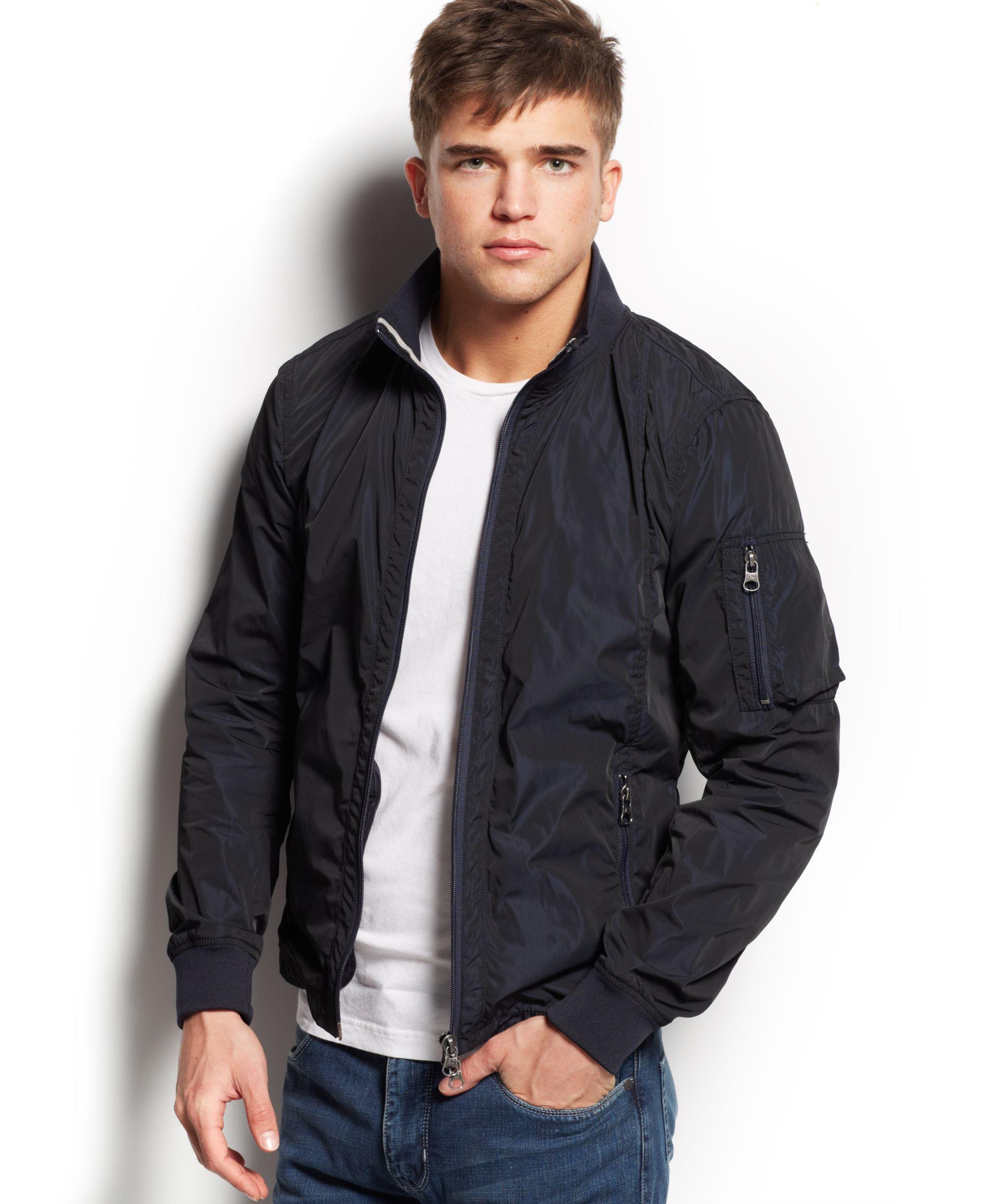 Armani Jeans Iridescent Bomber Jacket