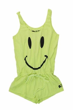 Rebel Yell Smile Romper in Neon Yellow