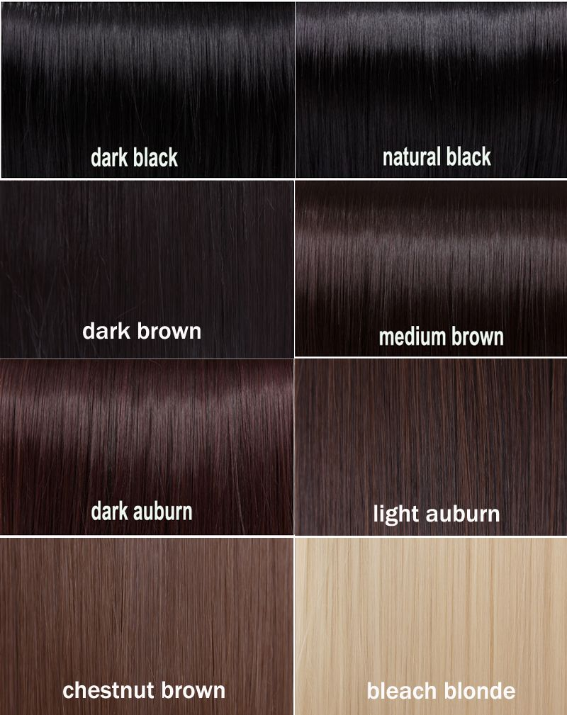 Shades Of Black Hair Color Chart Dark