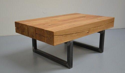 Ikarus Fourty Couchtisch vollmassiv dicke Platte mesas de madera - wohnzimmertisch eiche massiv