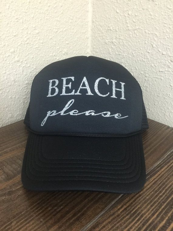Beach Please Adult Trucker Hat  ea75bd1ecc8c