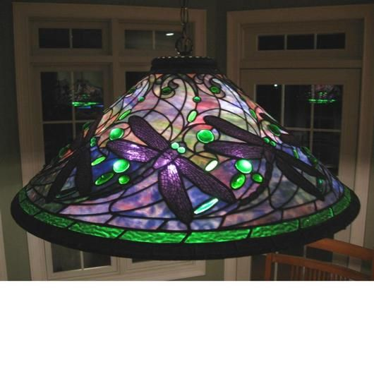 Swirling Dragonfly Delphi Artist Gallery Stained Glass Lighting Stained Glass Lamps Antique Lamp Shades