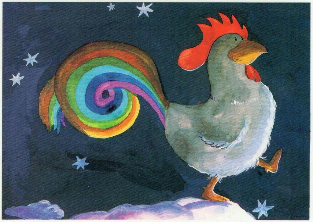 best supplier shop best sellers competitive price Rainbow Rooster by Helme Heine | Illustration á la ...