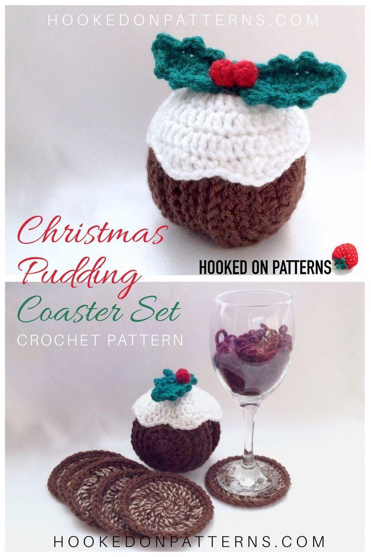 Christmas Pudding Crochet Pattern - Coasters | Crochet | Pinterest ...