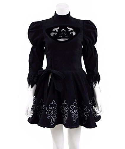 Xiao Maomi Halloween Womens Black Dress Suit Cosplay Costume Custom