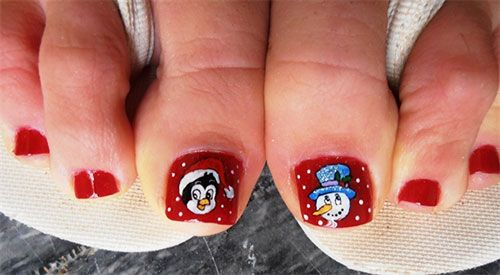30 Best And Easy Christmas Toe Nail Designs Toe Nail Art