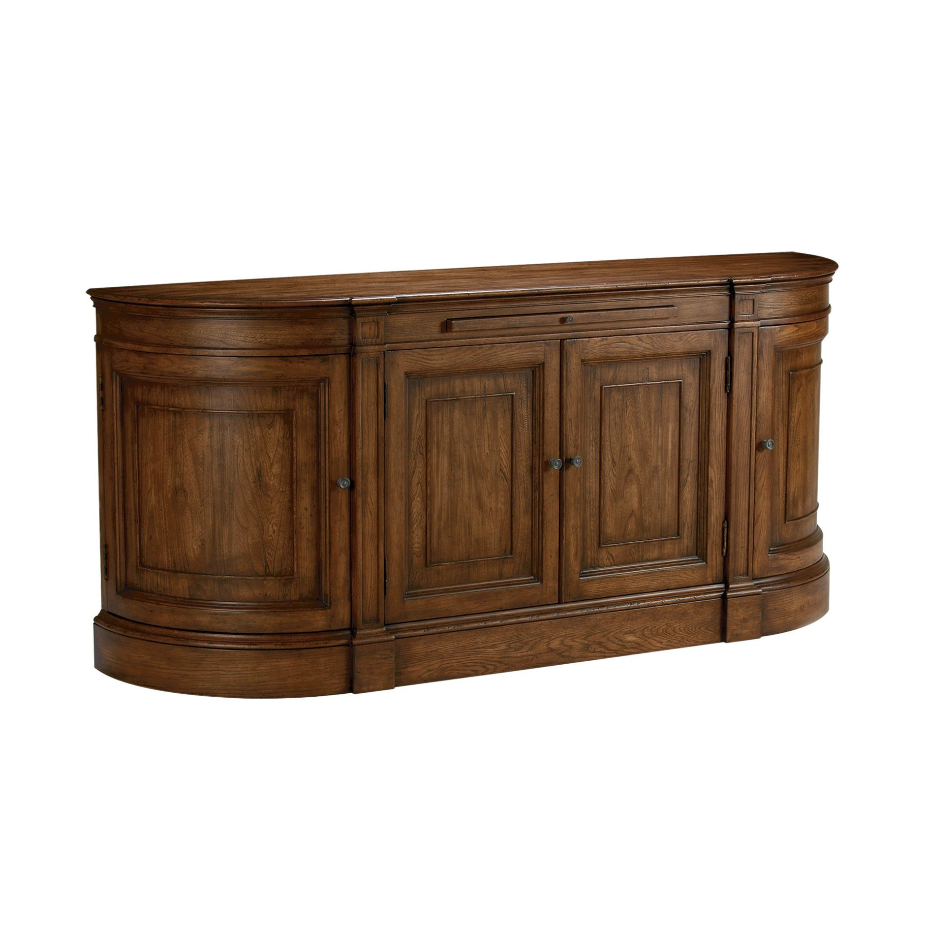Ethan Allen Buffet To Use Under The Wall Mounted Tv Put Media Equipment In