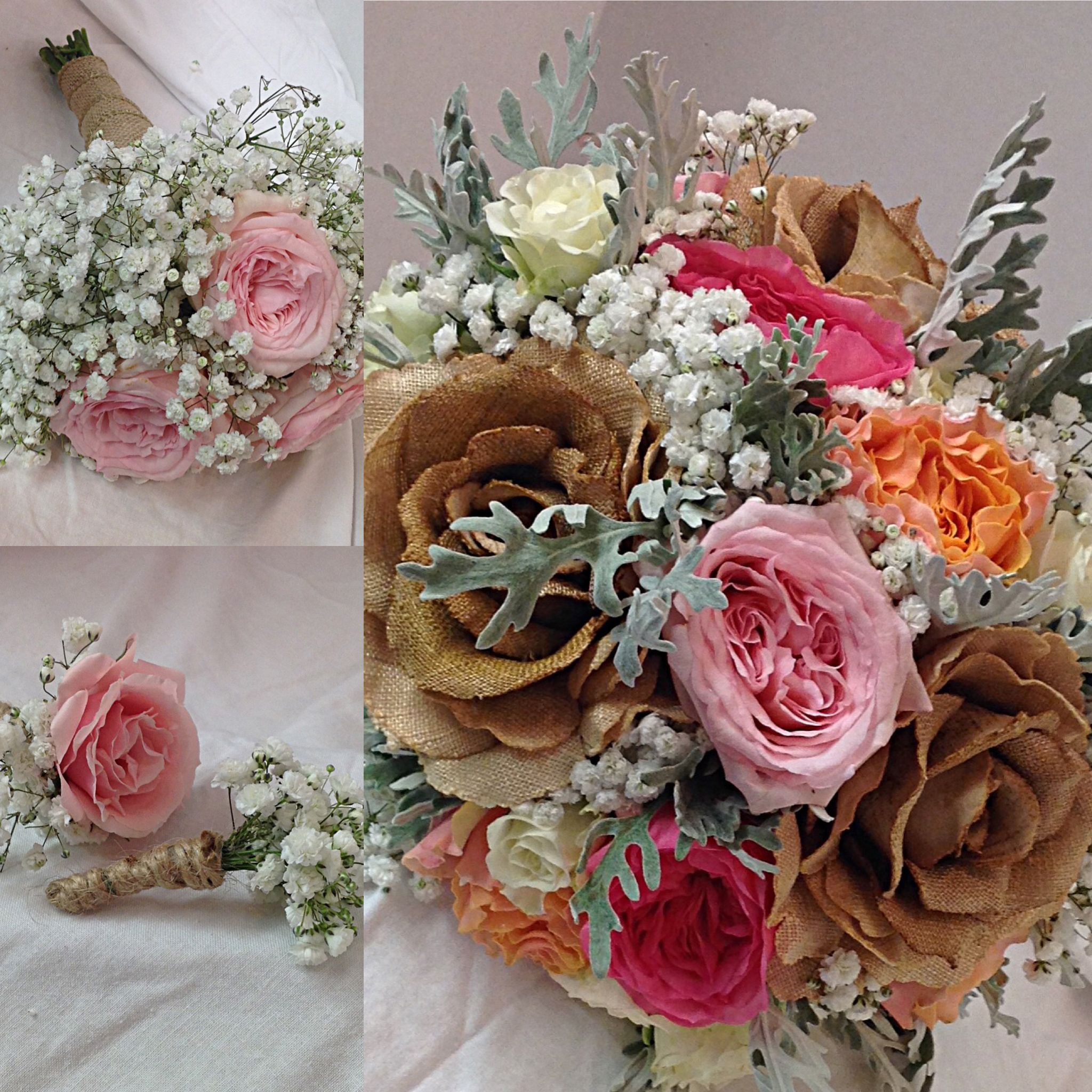 Fresh And Silk Flowers Working Together For The Bridal Bouquet