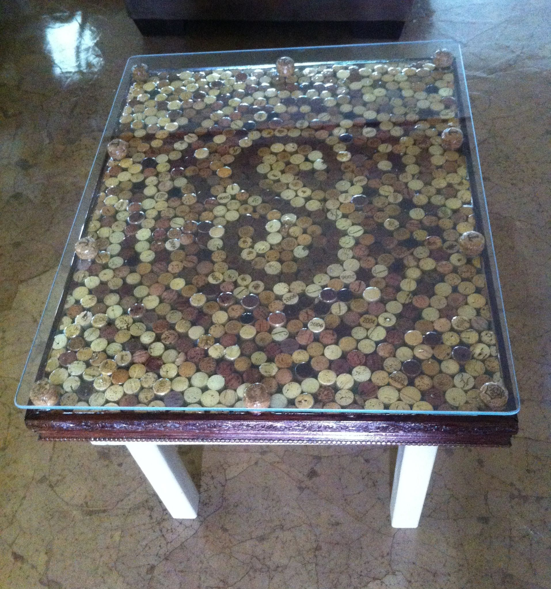 Attractive Wine Cork Table