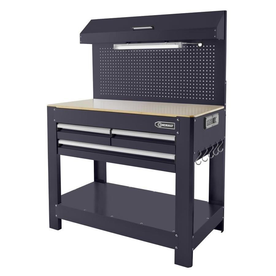 Stupendous Kobalt 45 In W X 36 In H 3 Drawer Hardwood Work Bench At Beatyapartments Chair Design Images Beatyapartmentscom