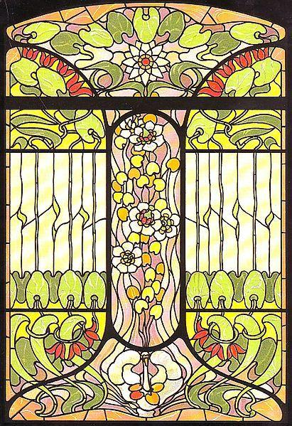 Arnold Lyongrün, Vorlage für ein Jugendstilfenster (Berlin und New York 1900)